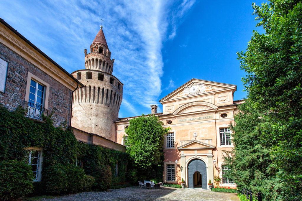 La facciata del Castello di Rivalta