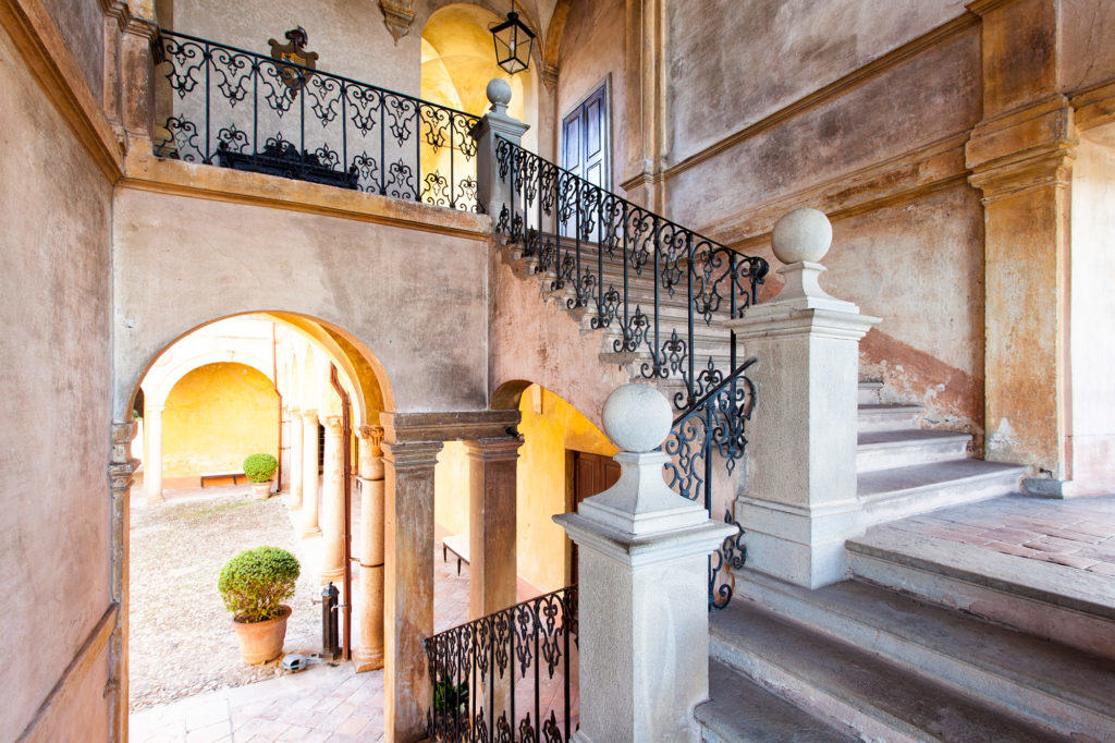 Staircase of the Castle of Rivalta